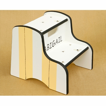 hand painted step stool - bee