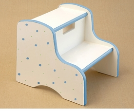 hand painted step stool-retro dot