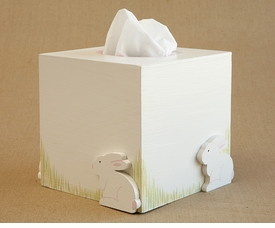 hand painted tissue box - hippity hop