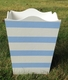 hand painted waste basket-nantucket stripe