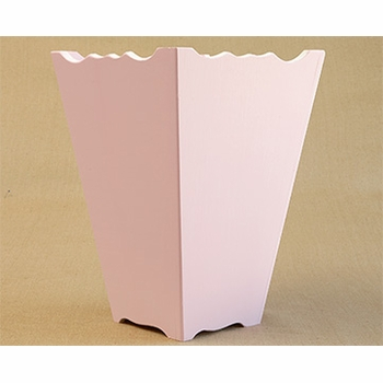 hand painted waste basket - two colors