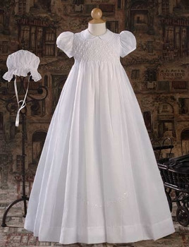 hand smocked christening gown