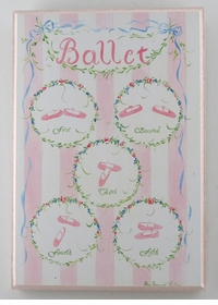 handcrafted artwork -ballet shoes