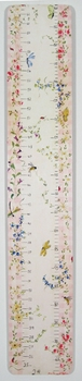 handcrafted growth chart - enchanted garden