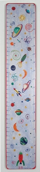 handcrafted growth chart - planets and stars