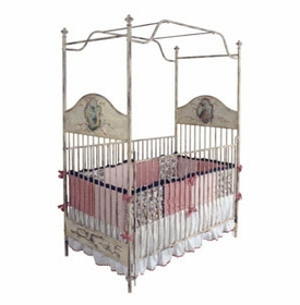 handpainted canopy crib 41630