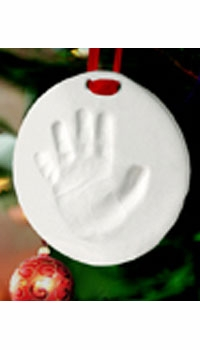 handprint or footprint holiday ornament