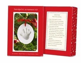 handprint ornament snowball box