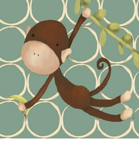 hanging monkey wall art canvas reproduction