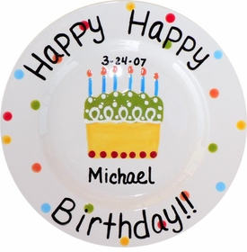 happy birthday personalized plate