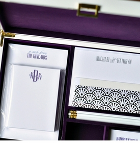 haute papier purple stationery wardrobe