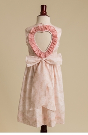 heart back ruffled dress - ballet pink