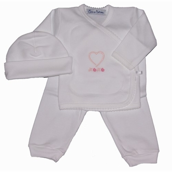 heart layette 3 piece set