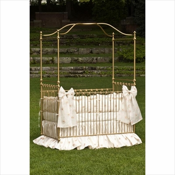 heirloom iron canopy crib by corsican