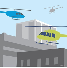 helicopters wall art