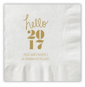 Hello Year Napkins