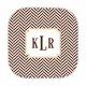 herringbone chocolate hardback rounded coaster<br>(set of 4)