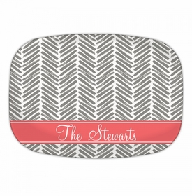 Herringbone Grey Platters