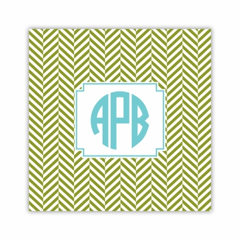 herringbone jungle square paper coaster<br>set of 50