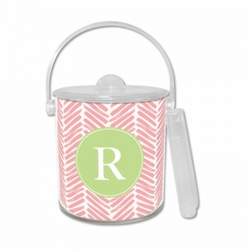 Herringbone Pink Ice Bucket