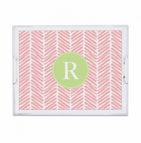 Herringbone Pink Small Tray