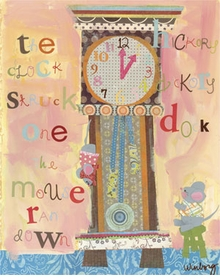hickory dickory dock wall art