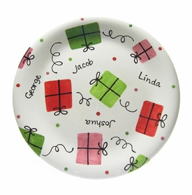 holiday present plate