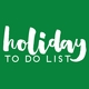 Holiday To Do List Skinny Notepad