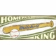 home-run king vintage sign
