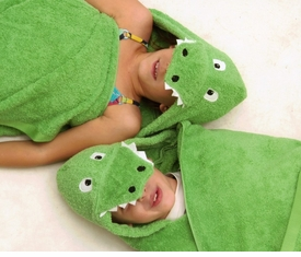 hooded alligator towel