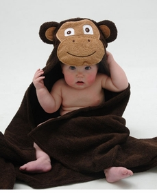 hooded monkey towel