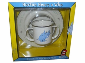 horton hears a who enamelware 3 piece set