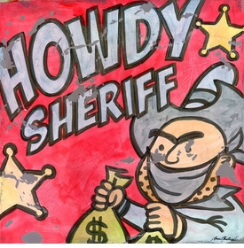 howdy sheriff wall art