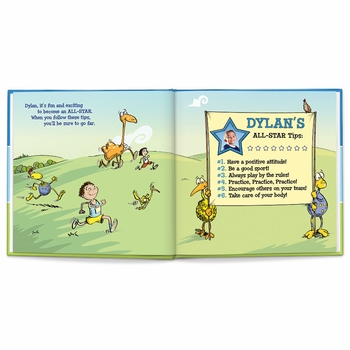I'm an all-star personalized book (blue)