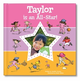 I'm an all-star personalized book (pink)