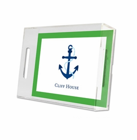 icon anchor with border lucite tray - small