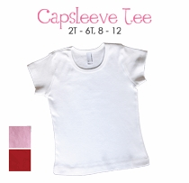 initial personalized cap sleeve tee