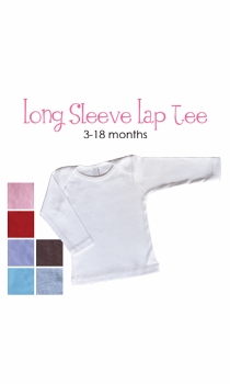 initial personalized long sleeve lap tee