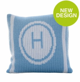 initial stamp pillow