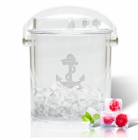 Insulated Personalized Ice Bucket With Tongs (unbreakable)