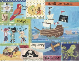 it's a pirate's life for me! wall art