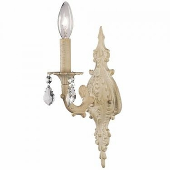 ivory 1-arm wall sconce