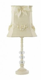 ivory  3 glass ball lamp- bouquet shade