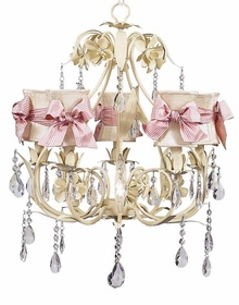 ivory ballroom chandelier with ivory hourglass shades