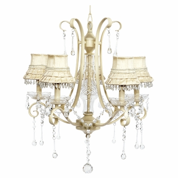 ivory colleen chandelier - ivory dangle skirt shades