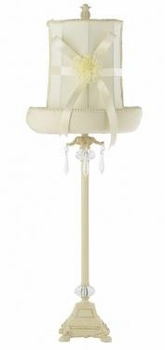 ivory dangle lamp - ivory hat shade