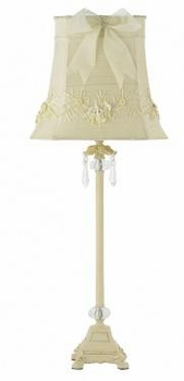 ivory dangle large lamp base