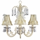 ivory floral bouquet chandelier shade