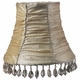 ivory gathered fabric chandelier shade