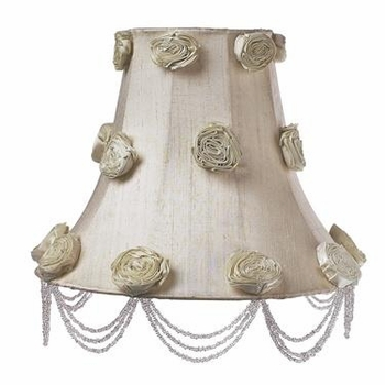 ivory glass ball lamp - ivory rose swag shade